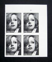 Sc # 3943 ~ Plate # Block ~ 37 cent Greta Garbo Issue (df6)