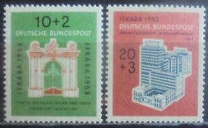 GERMANY (West) 1953 International Philatelic Exhibition, Set of 2 MNH