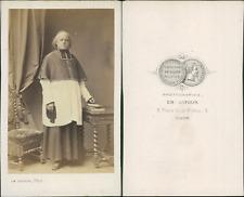 Dufour, Dijon, Prêtre, évêque ou cardinal en soutane, circa 1865 Vintage albumen