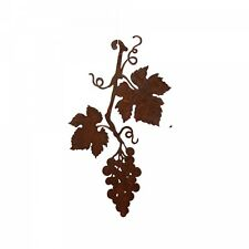 Edelrost Weinrebe zum Hängen 24cm x 39cm Herbstdeko Edelrost