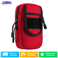Red Large Utility Pouch Heavy Duty PVC MOLLE PALS Tactical Gear Zippered Gear