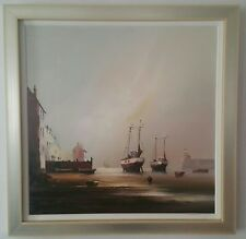 Barry Hilton - Harbour Scene oil on canvas