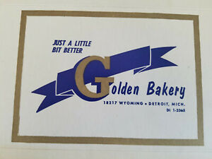 Vintage Golden Bakery Pastry Dessert Box Detroit Michigan Unassembled Never Used