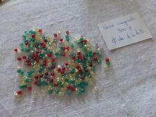 SUPER PROMO lot 2000 perles en verre couleur tilleul olive ovale lisse ancienne