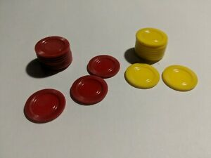 Vintage 1961 YAHTZEE Red & Yellow Chips!