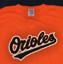 Baltimore Orioles #10 Baseball T-Shirt Jersey MEN'S LARGE L Orange vtg MAJESTIC