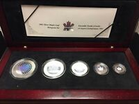 Canada 2003 Silver Maple Leaf Hologram 5-Coin Set