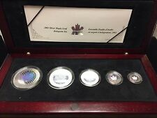 Canada 2003 Silver Maple Leaf Hologram 5-Coin Set