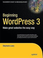 NEW - Beginning WordPress 3 (Expert's Voice in Web Development)