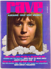 Marianne Faithfull BEATLES Barry Evans DAVID BOWIE Steve McQueen ~ RAVE MAGAZINE