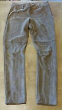BNWOT NEW H&M Camel Suede LOOK Effect Trousers Size 10 Small Smart Casual Lined