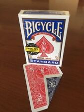 2 DECKS Bicycle DOUBLE BACK RED-BLUE gaff magic playing cards