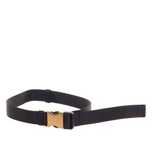 PRADA Hip Belt Size 38 / XS-S / 65/28 Adjustable Engraved Clip Buckle Closure
