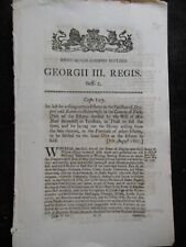 YORKSHIRE - Georgian Legal/Law Act - 1807 - Drypool and Sutton in Holderness