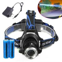900000LM T6 LED Rechargeable Headlight Head Lamp + 2Pcs 18650 Battery+Charger US