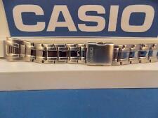 Casio Watch Band AQF-102 WD-1 Bracelet All Steel Silver Tone w/Push Button buckl