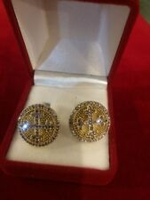 Handmade Sterling Silver 925 Cufflinks with Granada Stones for Priest or Bishop