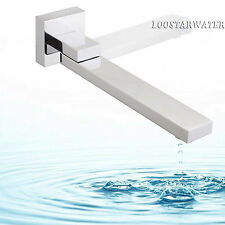 Wall Mount Chrome Bathtub Spout Basin Sink Vanity Faucet Waterfall Outlet Tap