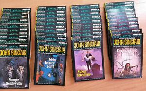 John Sinclair - 140 Taschen Romane, Sammlung, Band 369 - 509, Erstauflage