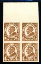 USAstamps Unused XF US Harding Imperforate Block Scott 576 OG MNH