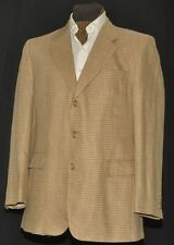 "DAKS JERMYN STREET WINDOWPANE CHECK Dogtooth SPORTS WOOL SILK LINEN JACKET 40"" R"