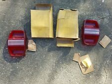 Pair 1968 Ford Galaxie Tail Light Lamp Lenses / NORS Glo-Brite