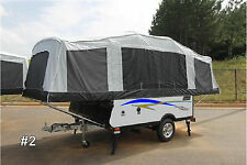 Pop Up Camper Graphic Stripe Kit 2 Colors 8 ft Vinyl Decal Stickers RV Trailer