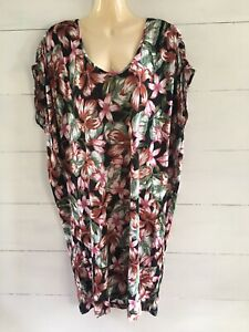 🤍 Country Road   Hibiscus Print Linen Dress   Size L