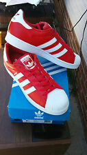 NEW Adidas Men's Superstar Foundation Shoes BB2240 Red SZ 9.5
