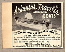 1951 Print Ad Arkansas Traveler Aluminum Boats Cushion Aire Hulls Little Rock,AR