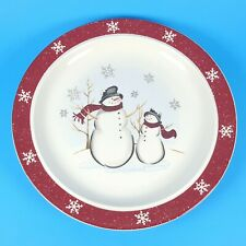 Royal Seasons Christmas Snowman Snowflake Dinner Plate