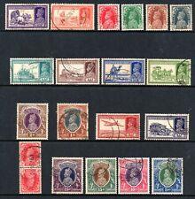 India (5629)  1937 King George V1 used set  Sg249-64