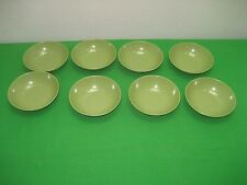 "Vintage Set of Eight (8) Melamine 5.5"" Serving Bowls Avocado Green"