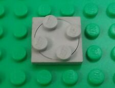 Lego 2x2 Stud Old Grey Swivel Round Spin Plate Space Rare Turntable - 1 piece