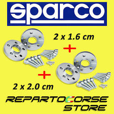 SPARCO WHEEL SPACERS KIT - (2 X 16mm + 2 x 20mm) - WITH BOLTS - FIAT PANDA 100HP