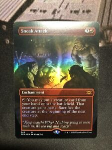 Magic the Gathering MTG Double Masters 2XM Sneak Attack Borderless Foil M/NM