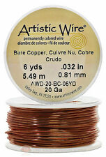 Copper Artistic Craft Wire 18 Feet 5.48 Meters Jewelry Beading Crafts 20 Gauge