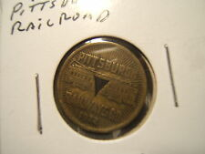 1922 Pittsburgh Railways Co. Transit Token GOOD FOR ONE FARE- * Triangle Center*
