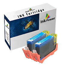 2 NonOEM Cyan Ink Cartridges For HP Deskjet 3070A 3520 e-AIO Officejet 4610
