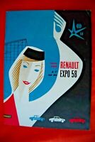 RENAULT 1958 Bruxelles Expo 58 Superbe catalogue publicitaire garage automobile