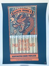 Dave Matthews band Poster 2018 chicago 6/29 concert tour with dmb match book