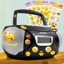 Tragbare Stereo Musik Anlage Kinder Zimmer CD-Player Smiley Sticker Big Light