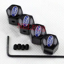 Black Anti-theft Car Wheel Tire Air Valve Caps Stem Cover For Ford Accessories