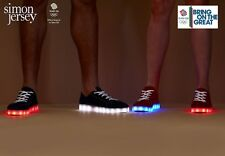 TEAM GB RIO OLYMPICS CLOSING CEREMONY -RIO LIGHTS- LIGHT UP FLASHING SHOES Sz 9