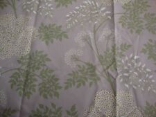 97cm SANDERSON Cow Parsley heavyweight cotton curtain fabric remnant .. amethyst