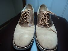 Cole Haan Tan Suede & Brown Leather Saddle Oxfords, Size 10M,  Air Cushion Soles