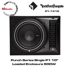 "Rockford Fosgate Punch Series - P1-1X10 - 10"" Loaded Subwoofer Enclosure 500W"