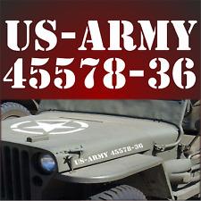 Aufkleber US Army  Nummer US Army Sterne Auto Sterne Türen Hauben USA Army US F