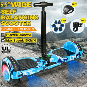 "6.5"" Bluetooth Hoverboard Scooter Self Balancing Electric Skateboard Free Handle"