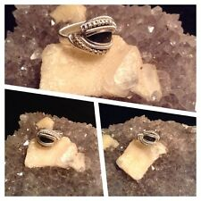 wire wrapped labradorite ring Size 7 Sterling silver